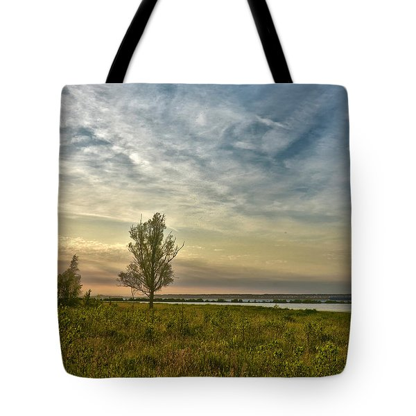 Lonely Tree In Dintelse Gorzen Tote Bag