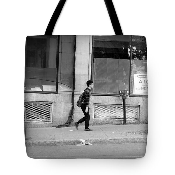 Tote Bag featuring the photograph Lonely Urban Walk by Valentino Visentini
