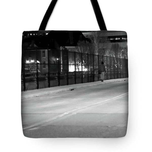 Lonely Walk Tote Bag