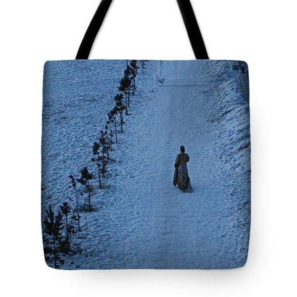 Lonely Walk/tsagaan Sar Tote Bag