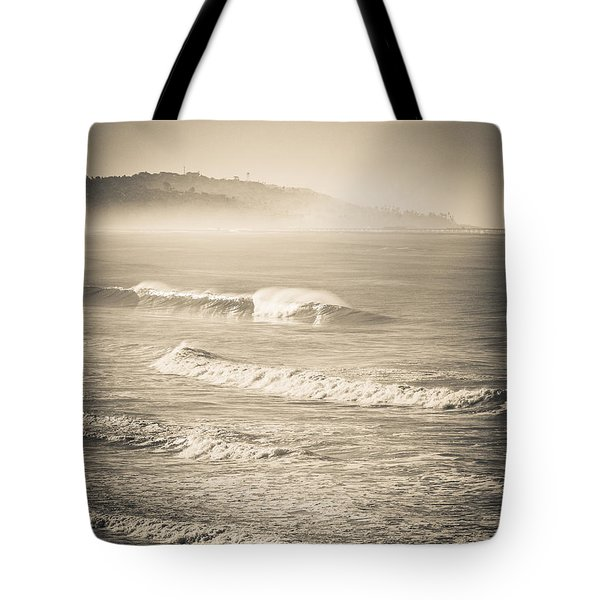 Lonely Winter Waves Tote Bag