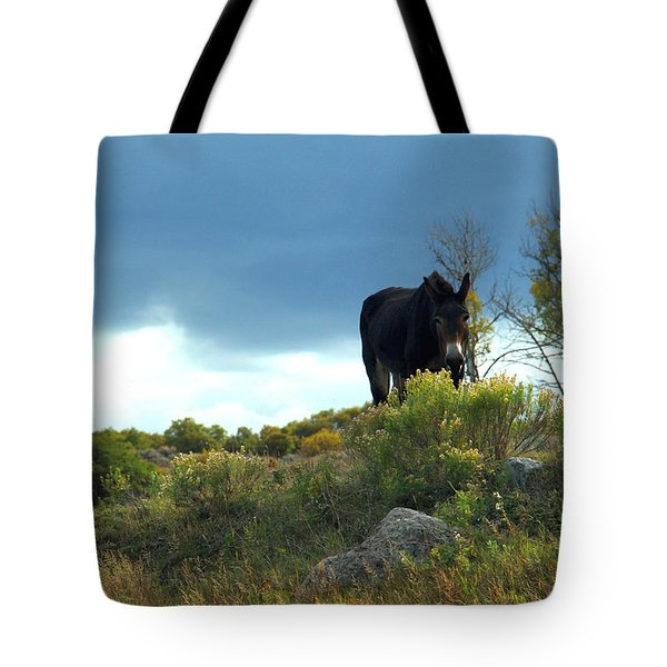 Lonesome Donkey Tote Bag