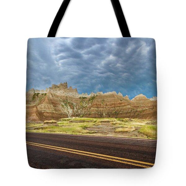 Lonesome Highway Tote Bag