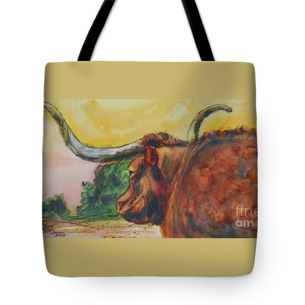 Lonesome Longhorn Tote Bag