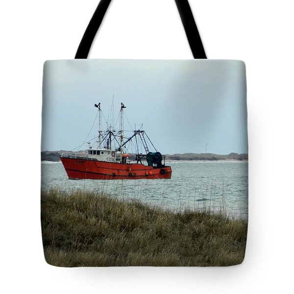 Lonesome Red Boat Tote Bag