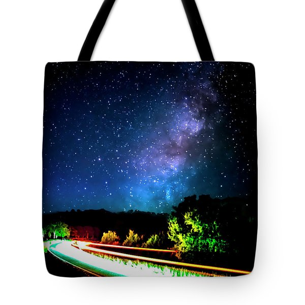 Tote Bag featuring the photograph Lonesome Texas Highway by David Morefield