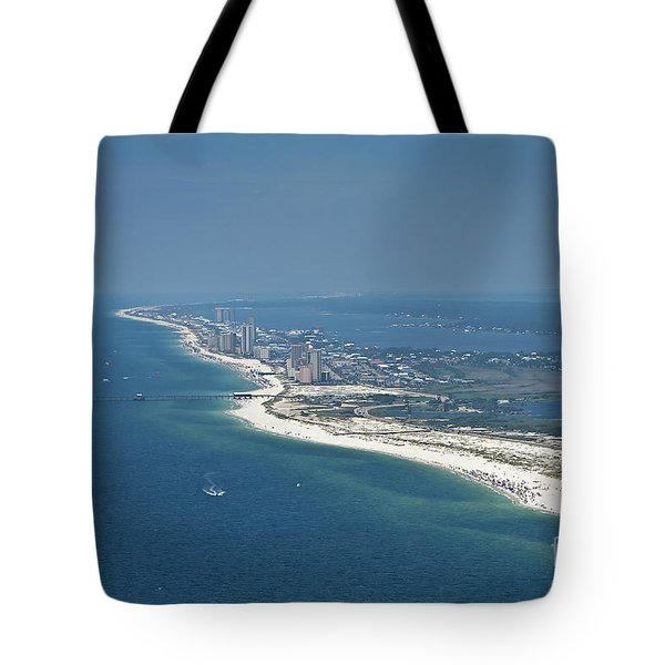 Tote Bag featuring the photograph Long, Aerial, Beach View by Gulf Coast Aerials -