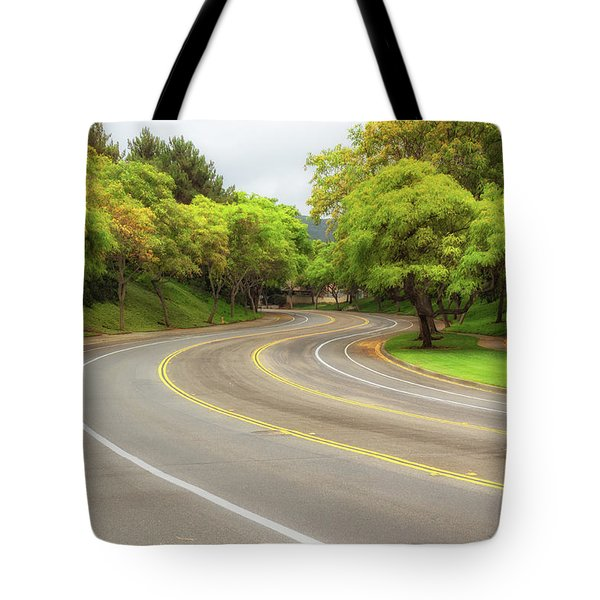 Long And Winding Road Tote Bag