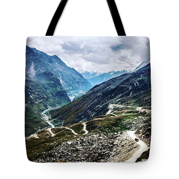 Long And Winding Roads Tote Bag