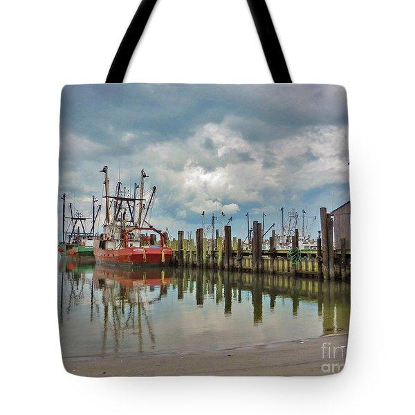 Long Beach Island Docks Tote Bag