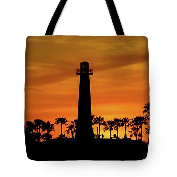 Long Beach Lighthouse Tote Bag