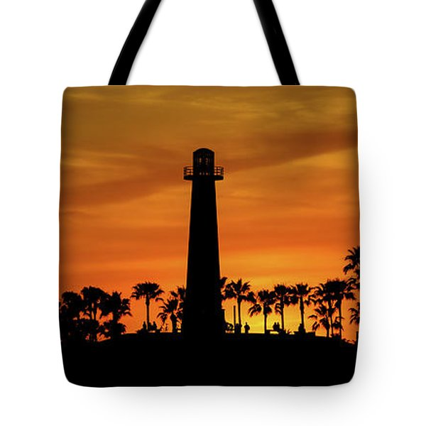 Tote Bag featuring the photograph Long Beach Lighthouse by T A Davies