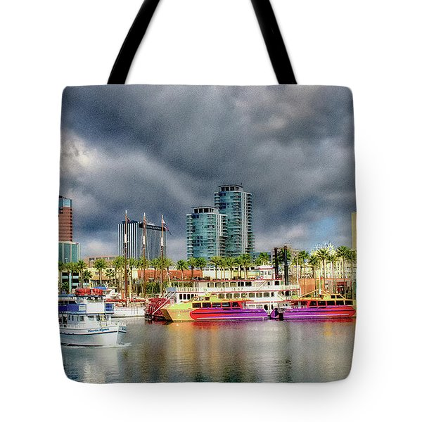 Long Beach Shoreline Marina Tote Bag by Joseph Hollingsworth