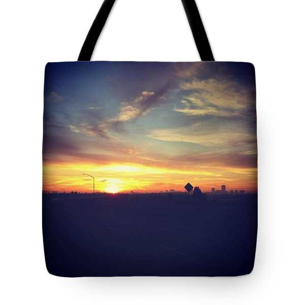 Long Beach Sunrise Tote Bag