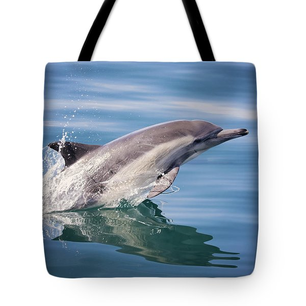 Long Beaked Common Dolphin Tote Bag