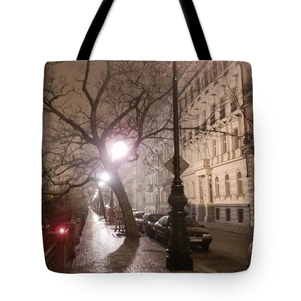 Long Cobblestone Street Of Prague Tote Bag