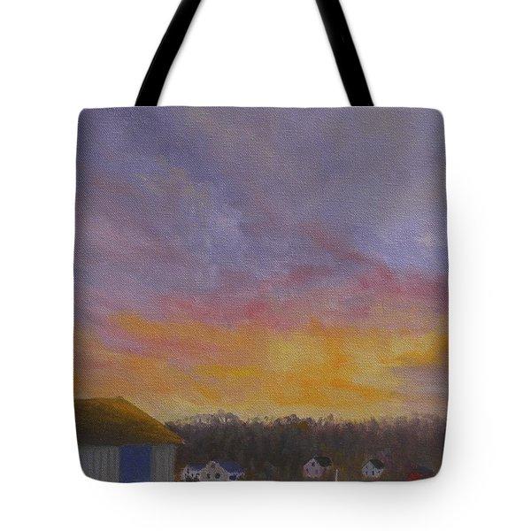 Long Cove Sunrise Tote Bag