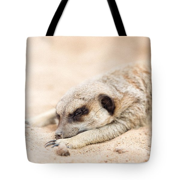 Long Day In Meerkat Village Tote Bag