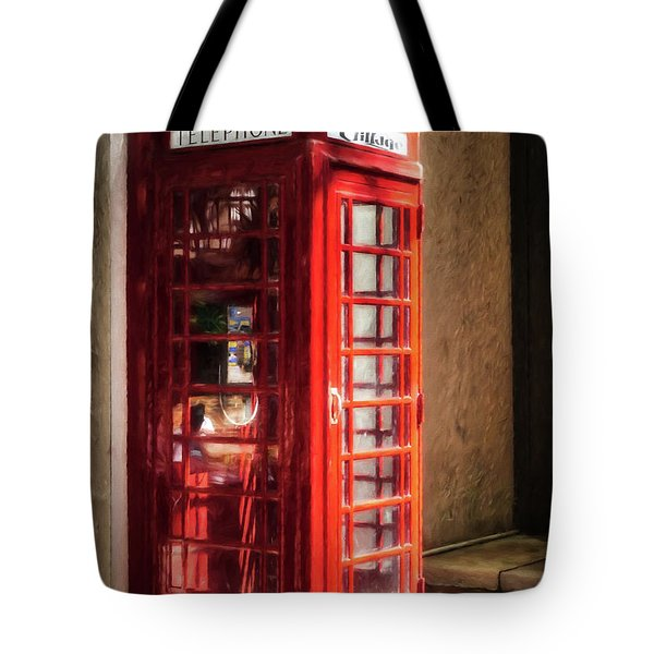 Tote Bag featuring the photograph Long Distance Call To London by Mel Steinhauer