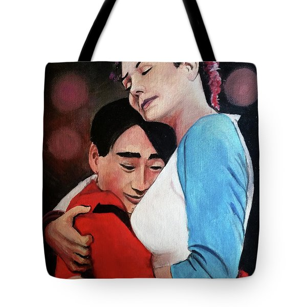 Long Duck Dong And Sexy American Girlfriend Tote Bag by Tom Carlton