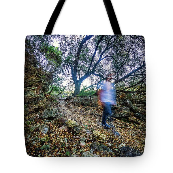 Long Exposure Peddernales Falls State Park Hike Tote Bag by Micah Goff