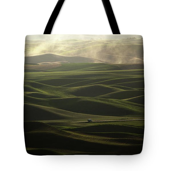 Tote Bag featuring the photograph Long Haul by Bob Cournoyer