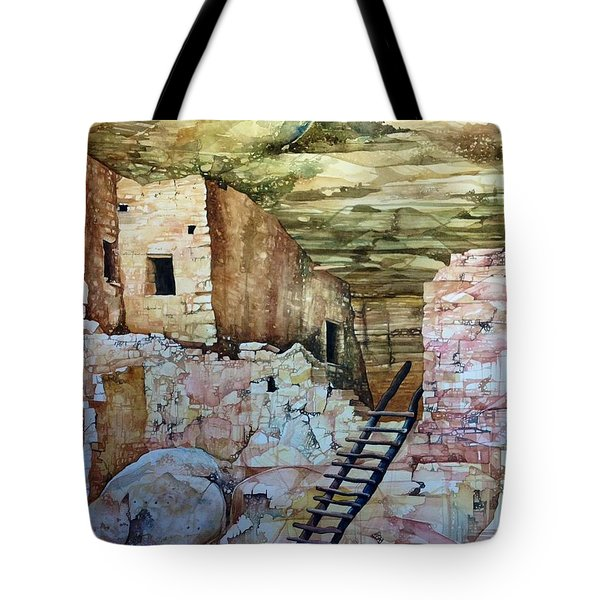 Long House, Mesa Verde National Park Tote Bag by Lance Wurst