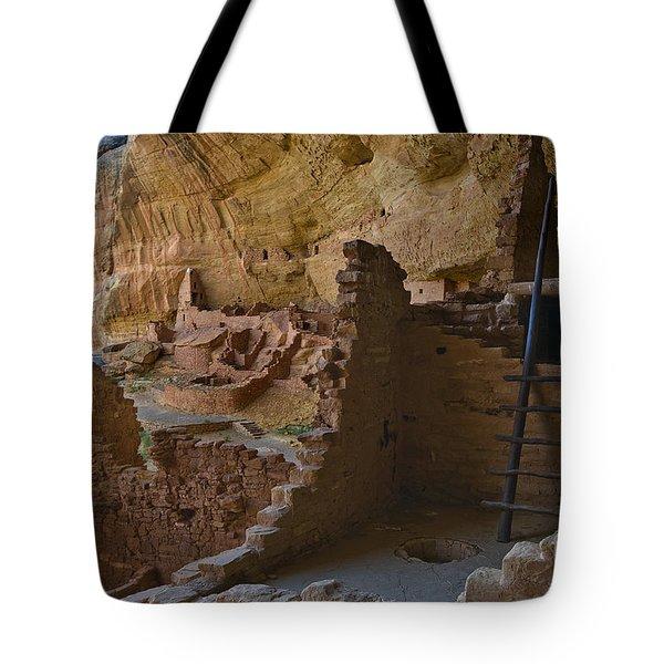 Long House Ruins Tote Bag