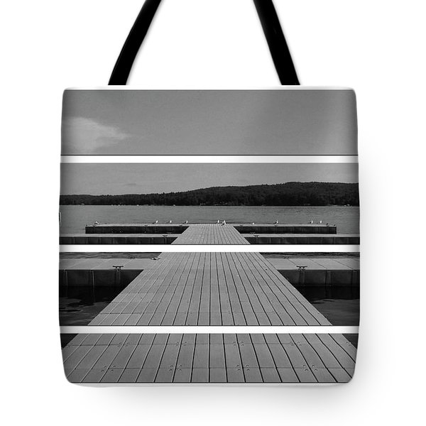 Long Lake Dock Tote Bag