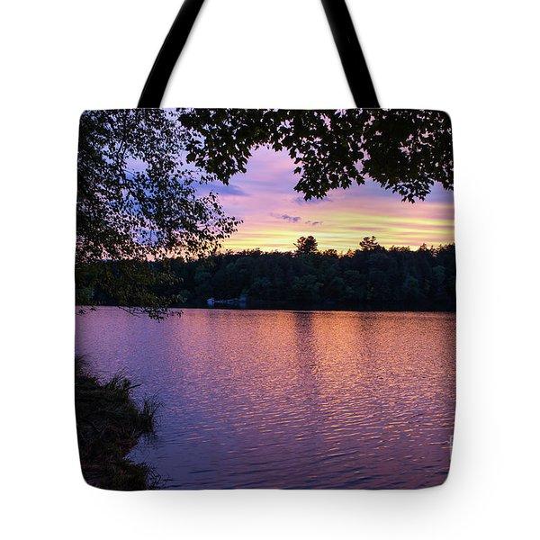 Long Lake Sunset 1 Tote Bag