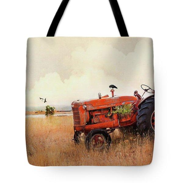 Long Lake Tractor Tote Bag