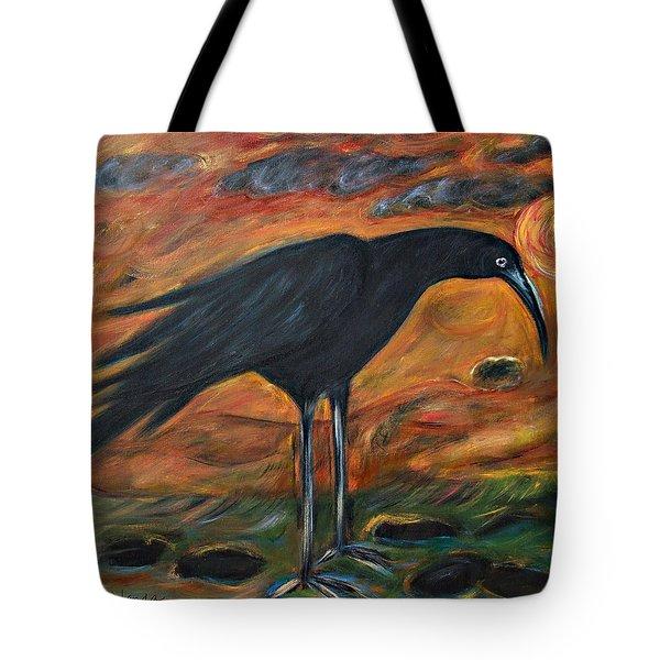 Long Legged Crow Tote Bag