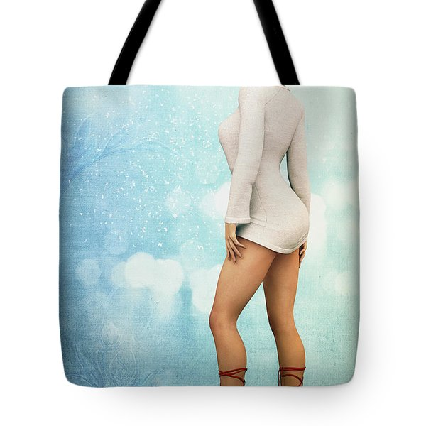 Tote Bag featuring the digital art Long Legs by Jutta Maria Pusl