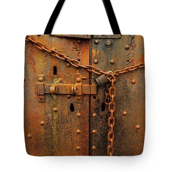 Long Locked Iron Door Tote Bag