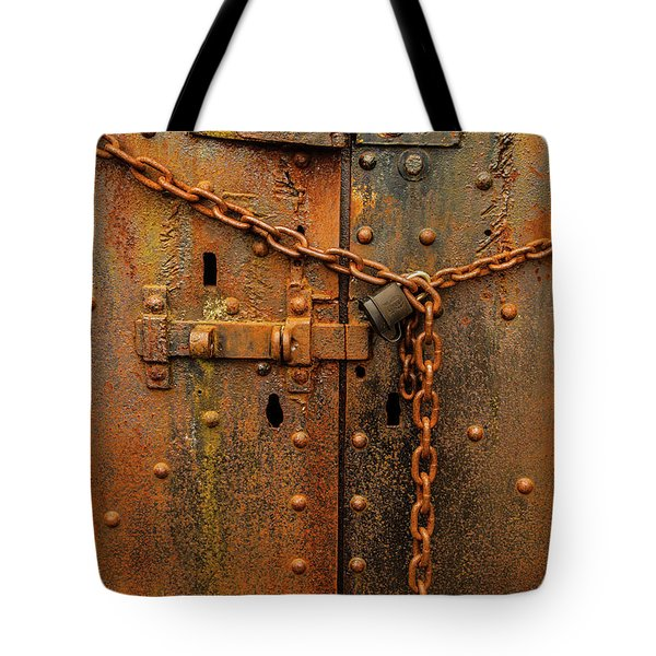 Long Locked Iron Door Tote Bag