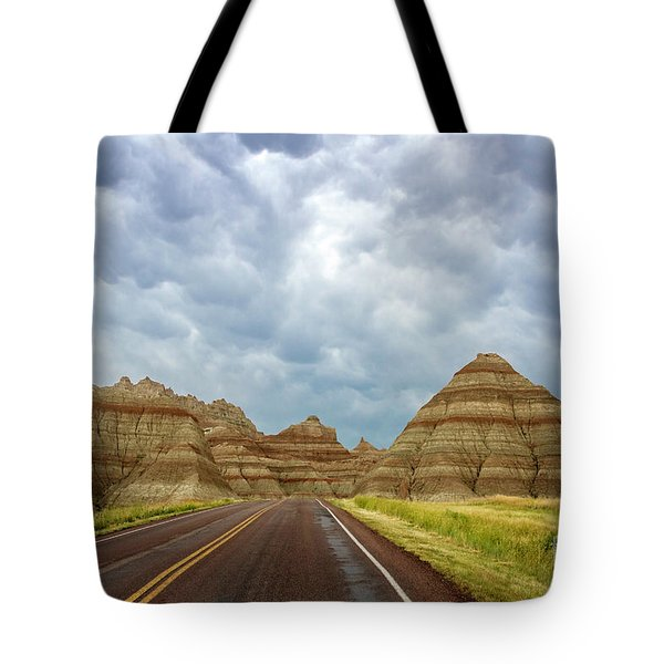 Long Lonesome Highway Tote Bag