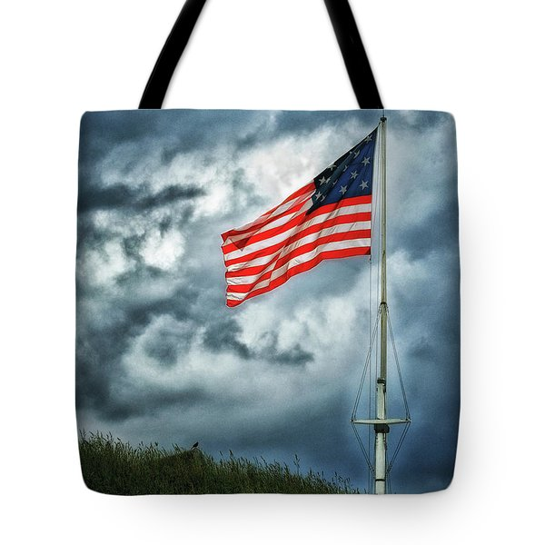 Long May It Wave Tote Bag