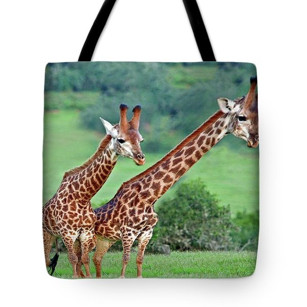 Long Necks Together Tote Bag by Bruce Iorio