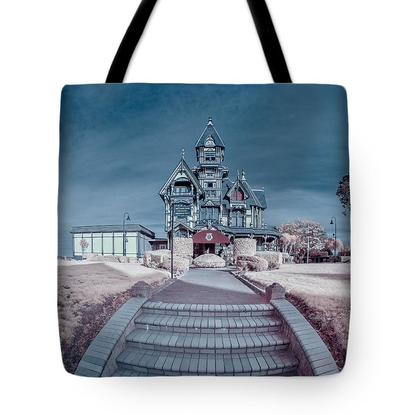 Long Pathway To Carson Mansion Tote Bag