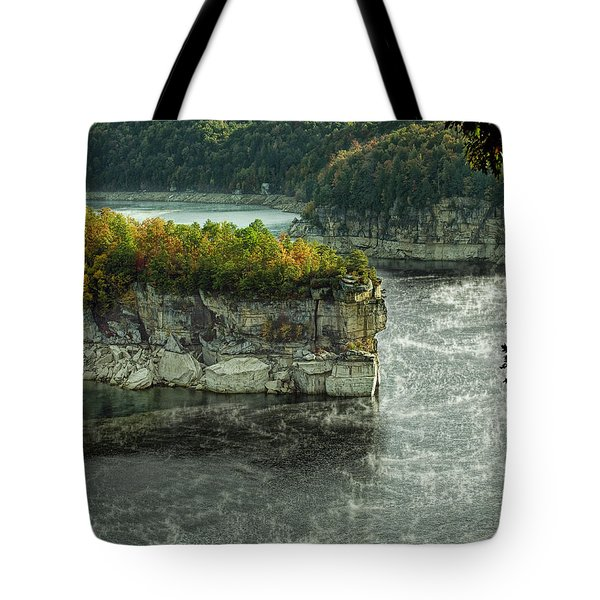 Long Point Clff Tote Bag by Mark Allen