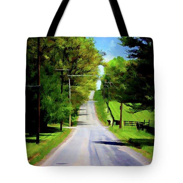 Long Road Ahead Tote Bag
