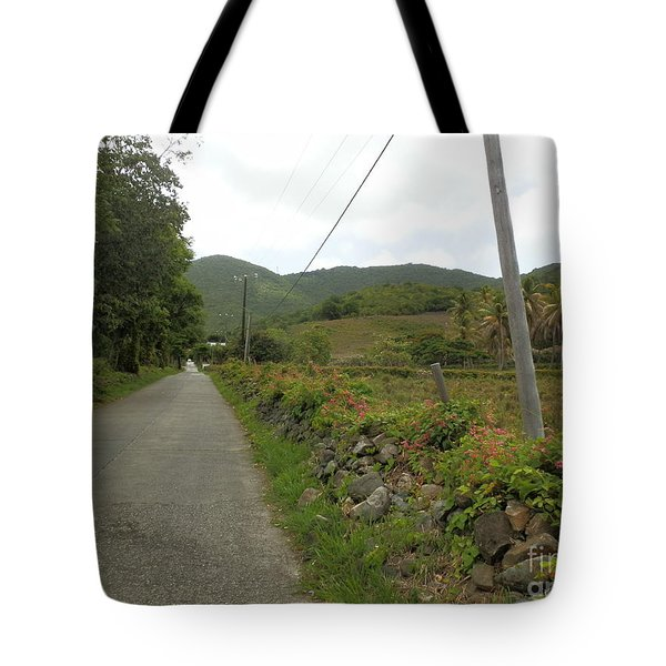 Long Road Into Colombier Tote Bag