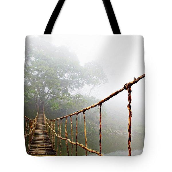 Long Rope Bridge Tote Bag