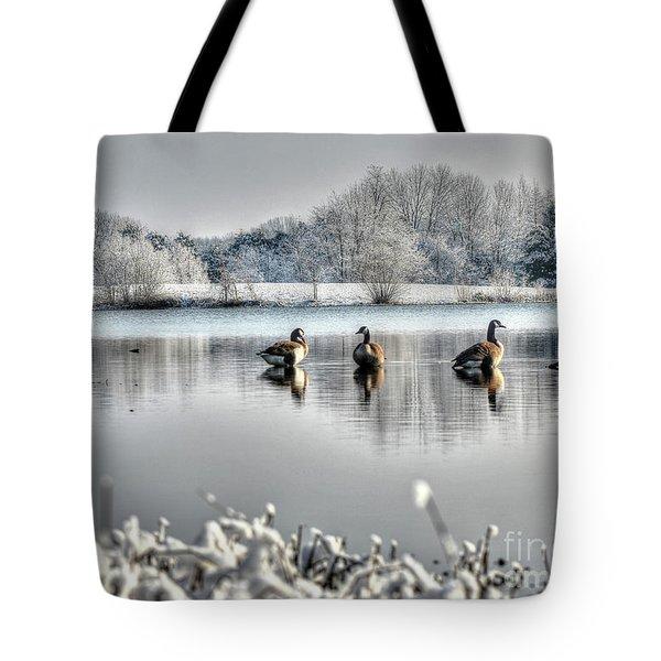 Geese At Long Run Pond Tote Bag