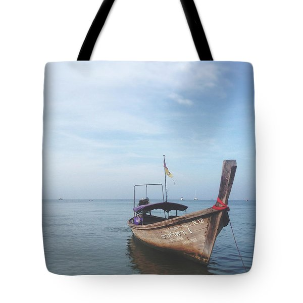 Tote Bag featuring the photograph Long Tail Boat Stillness by Ivy Ho