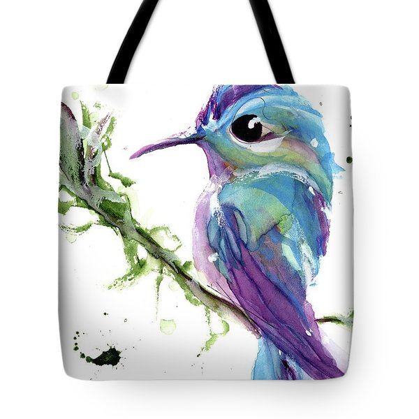 Tote Bag featuring the painting Long-tailed Sylph by Dawn Derman