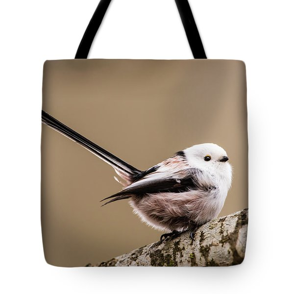 Tote Bag featuring the photograph Long-tailed Tit Wag The Tail by Torbjorn Swenelius