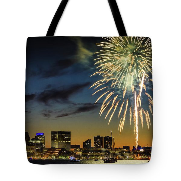 Long Warf Fireworks 1 Tote Bag by Mike Ste Marie