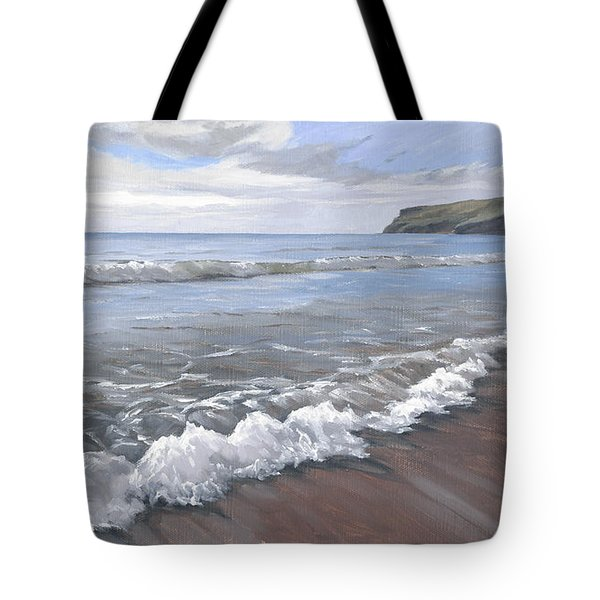 Long Waves At Trebarwith Tote Bag