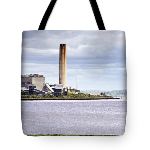 Tote Bag featuring the photograph Longannet Power Station by Jeremy Lavender Photography
